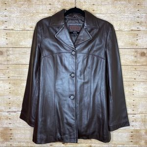 Brown Sienna Leather Jacket Women's Size Small